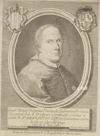 Atalaia, Jos� Manuel d',  - 1758, , , Principal dean of the church of Lisbon, Portugal. Kardinal 1747, Portrait, KUPFERSTICH:, Jo. Dem. Campiglia del. �  Nicolaus Billy  (Gilly ?) sc.